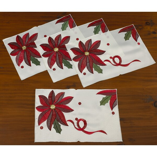 Bloomy Decorative Christmas Placemats (Set of 4) by The Holiday Aisle