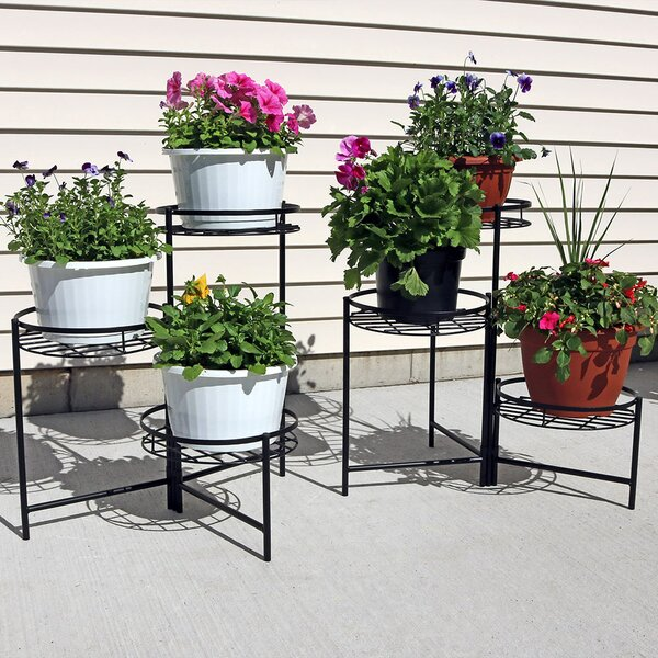 3-Tiered Indoor/Outdoor Plant Stand Set (Set of 2) by Wildon Home ®