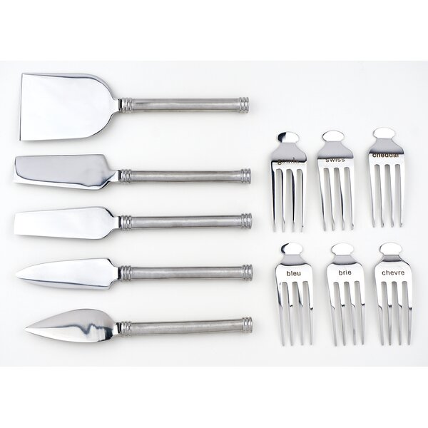 Markers with 5 Piece Cheese Knife Set by RSVP-INTL
