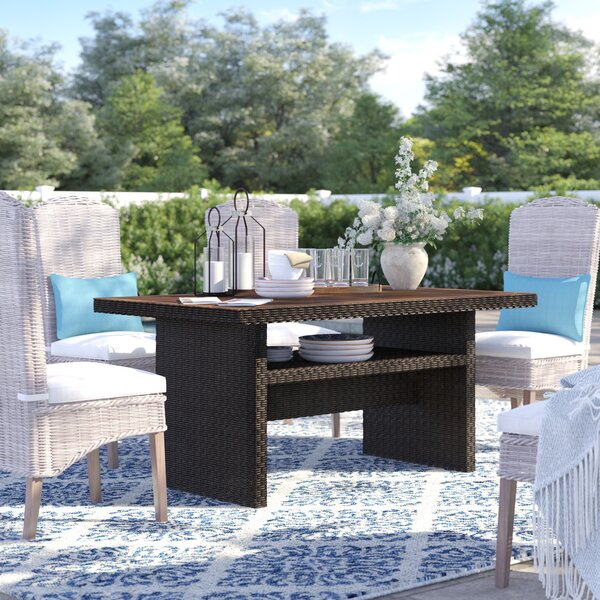 Adele  Wicker/Rattan  Dining Table by Sol 72 Outdoor