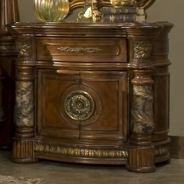 Villa Valencia 1 Drawer Nightstand by Michael Amini