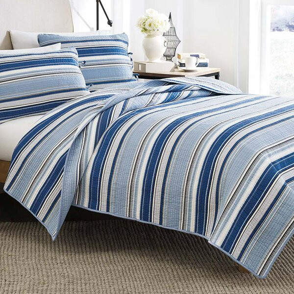 Strauss Cotton Quilt Set by Beachcrest Home