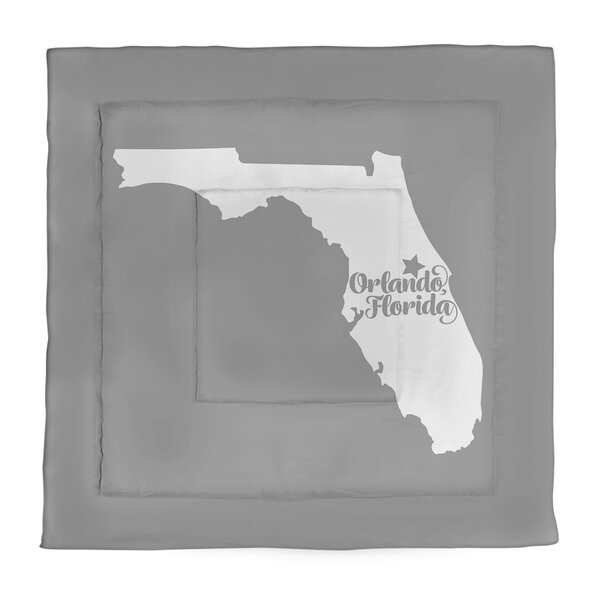 Orlando Florida Single Reversible Comforter