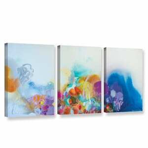 Dream A Little Dream 3 Piece Painting Print on Wrapped Canvas by Latitude Run