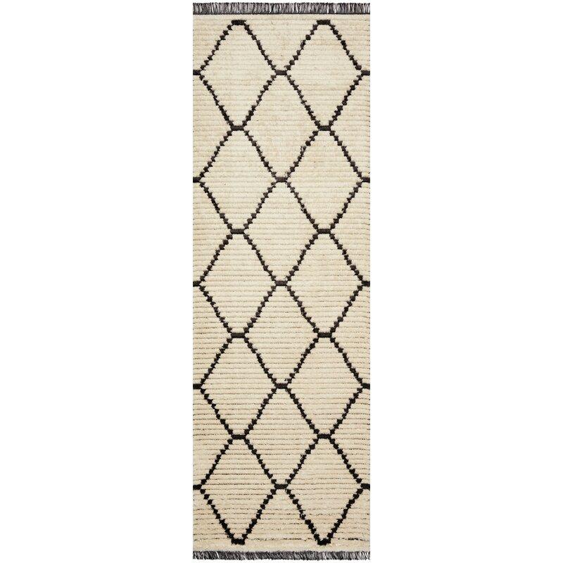 Shop Alice Geometric Cream/Charcoal Area Rug from Wayfair on Openhaus