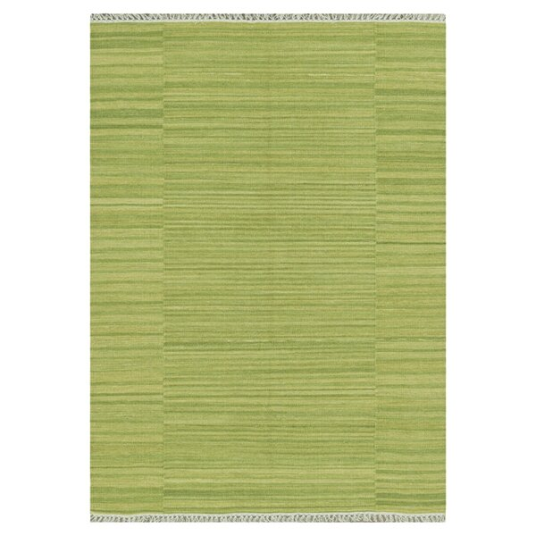 Barret Hand-Woven Green Area Rug by Highland Dunes