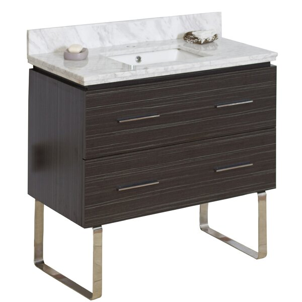 Kyra 36 Wood Single Bathroom Vanity Set with 2 Drawers by Orren Ellis