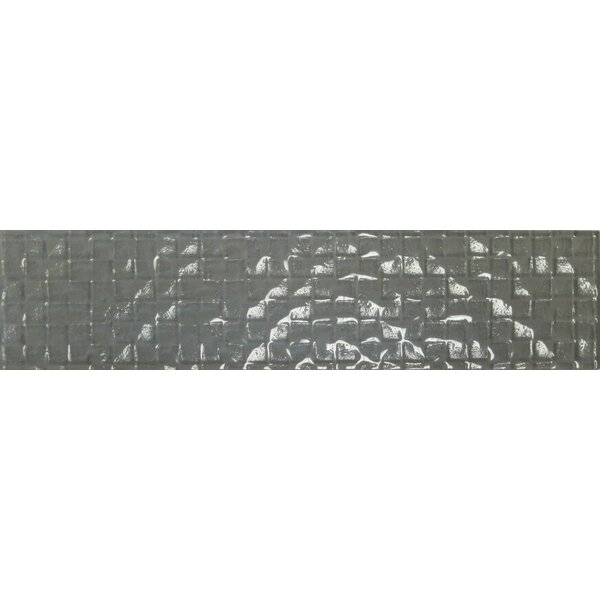 Cubale 3 x 12 Glass Mosaic Tile in Winter Gray by Epoch Architectural Surfaces