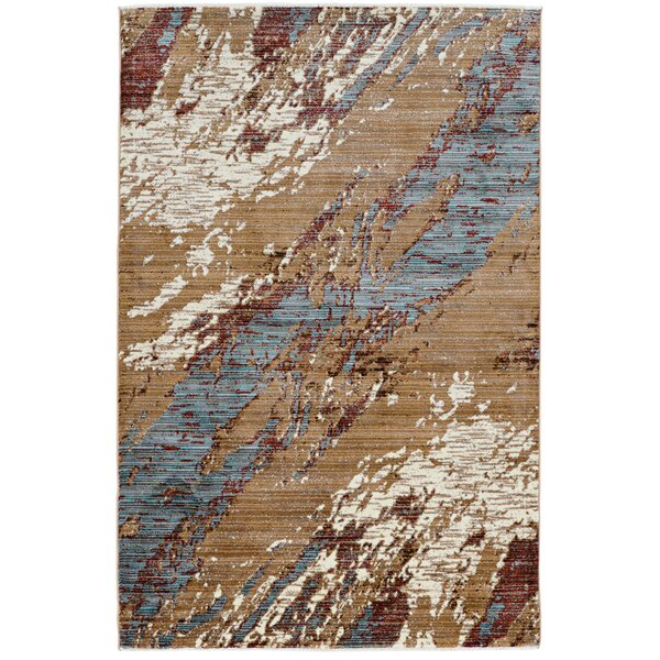 Crittenden Marble Beige Area Rug by 17 Stories