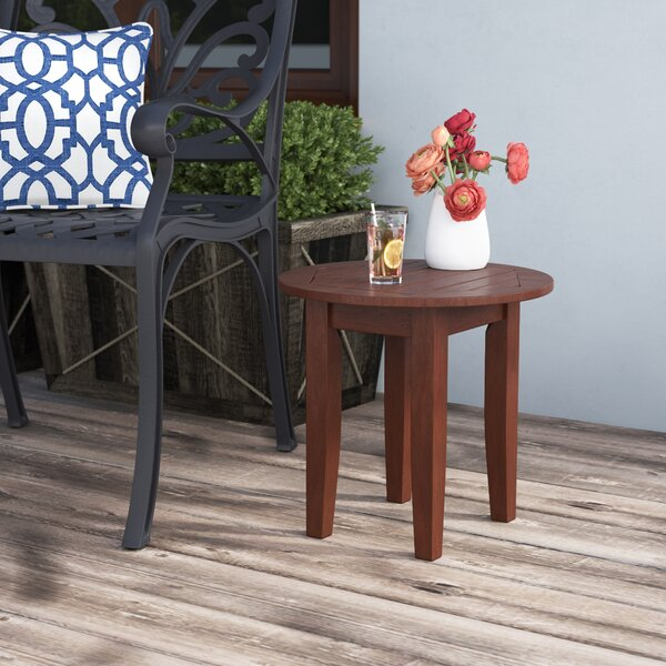 Dowling Wood Side Table by Three Posts