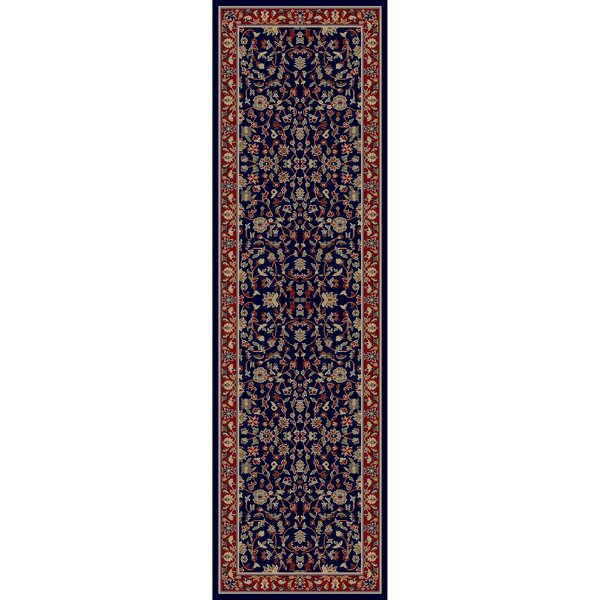 Edmont Jewel Kashan Navy Area Rug by World Menagerie