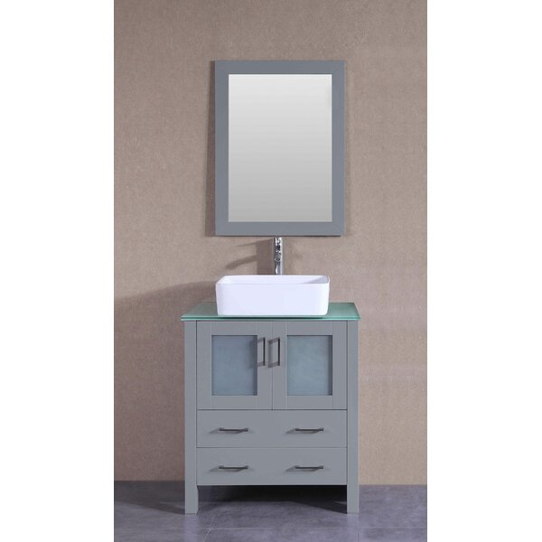 Veince 30 Single Bathroom Vanity Set with Mirror by Bosconi