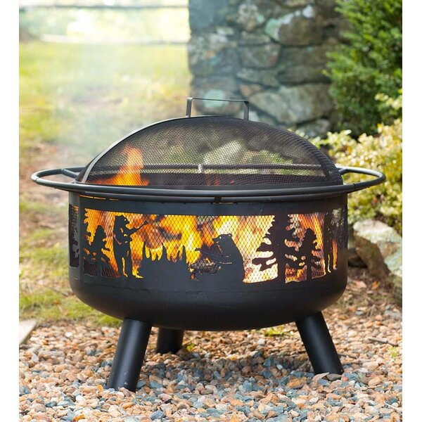 Steel Wood Burning Fire Pit by Plow & Hearth
