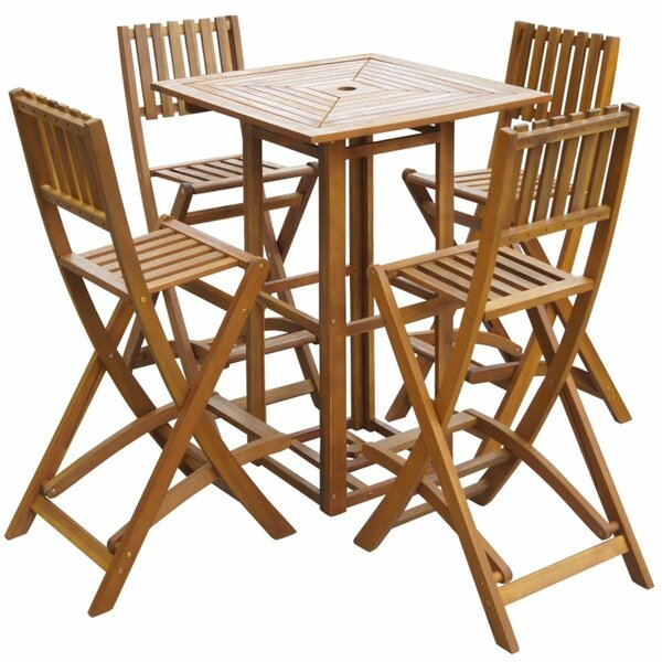 Saskia 5 Piece Dining Set by Rosecliff Heights
