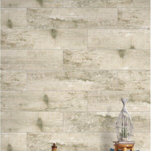 Ranch 24 x 35 Porcelain Wood Look Tile in Land by Emser Tile