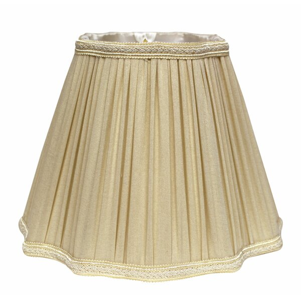 9 H Silk/Shantung Bell Lamp shade ( Spider ) in Taupe