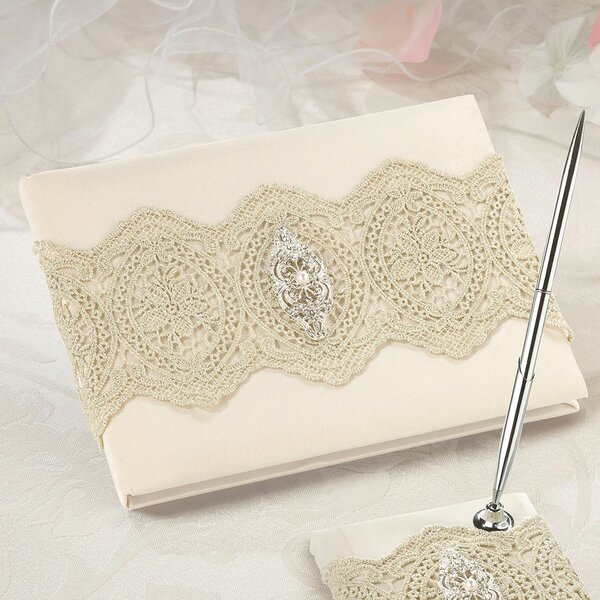 Lace Guest Book by Lillian Rose