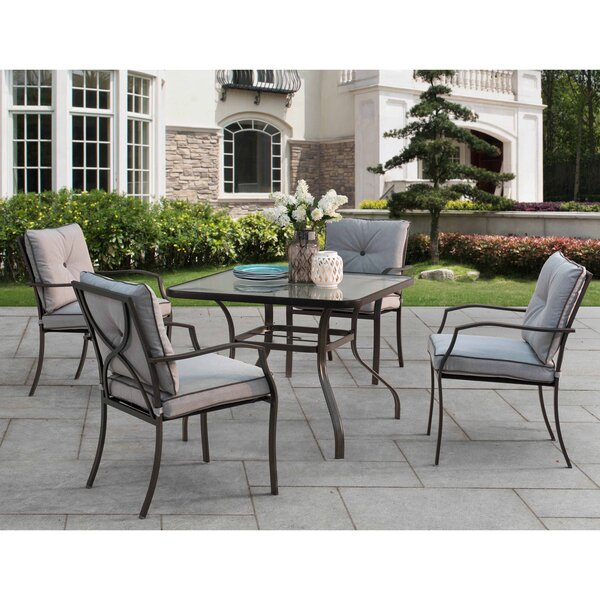 Ellard 5 Piece Dining Set with Cushions by Red Barrel Studio