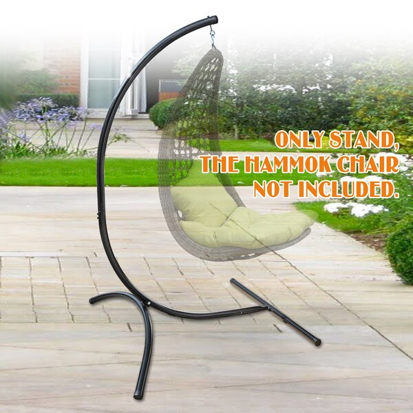 Glennville Hanging C-Frame Swing Holder Metal Hammock Chair Stand By Freeport Park