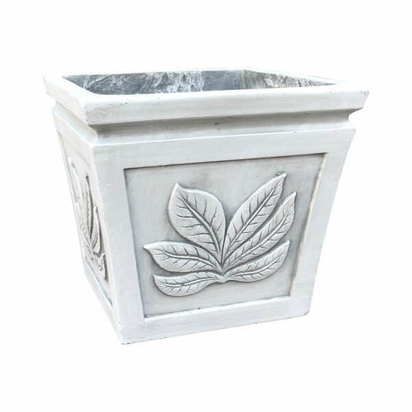 Lindenberg Square Leaf Pot Planter by Red Barrel Studio