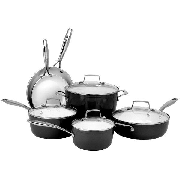 Premium 10 Piece Non-Stick Cookware Set by Oneida