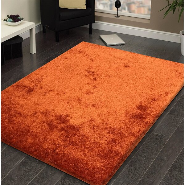 Amore Shag Rust Area Rug by Rug Factory Plus