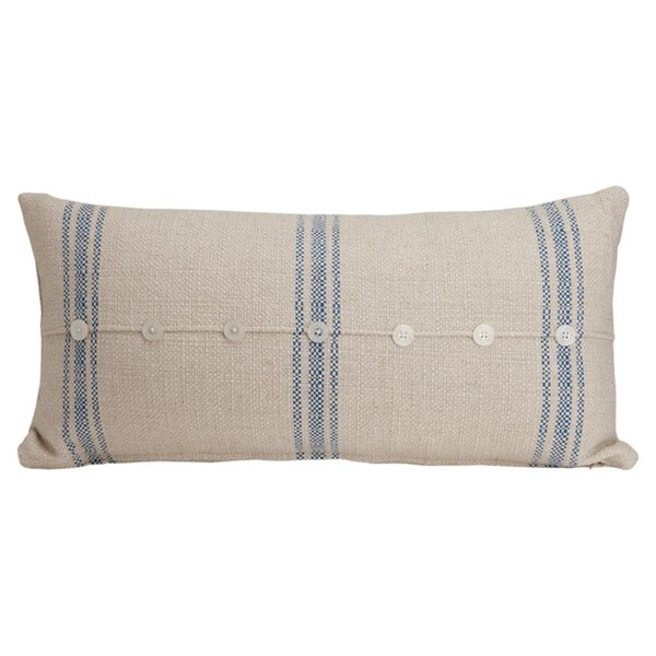 Hampton Classic Large Skinny Cotton Lumbar Pillow by Provence Home Collection