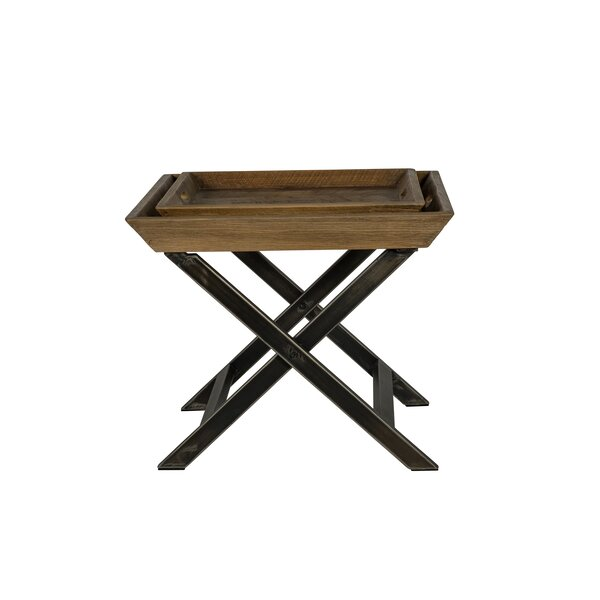 Garrison Coffee Table with Tray Top by Union Rustic