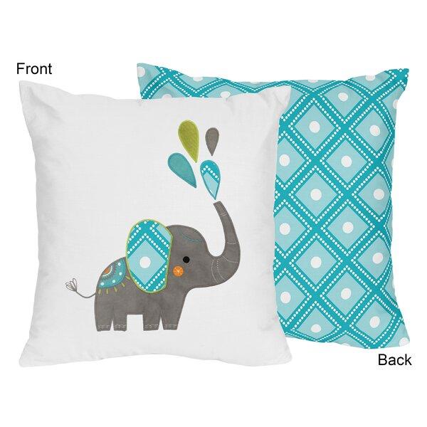 Mod Elephant Throw Pillow by Sweet Jojo Designs