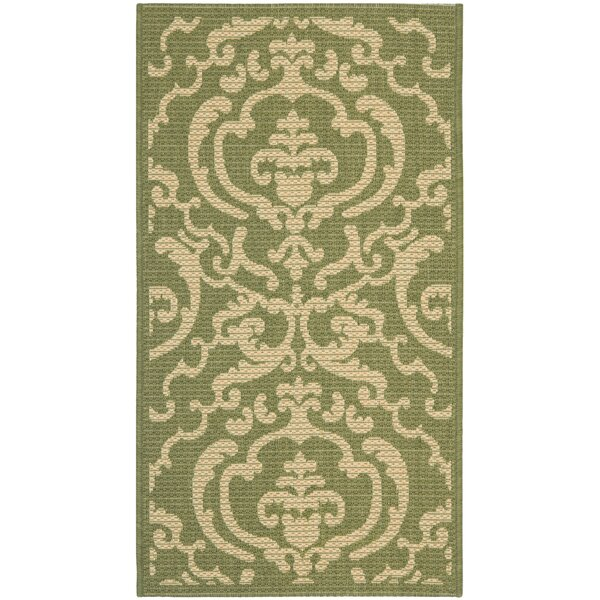Herefordshire Olive/Natural Indoor/Outdoor Area Rug by Winston Porter