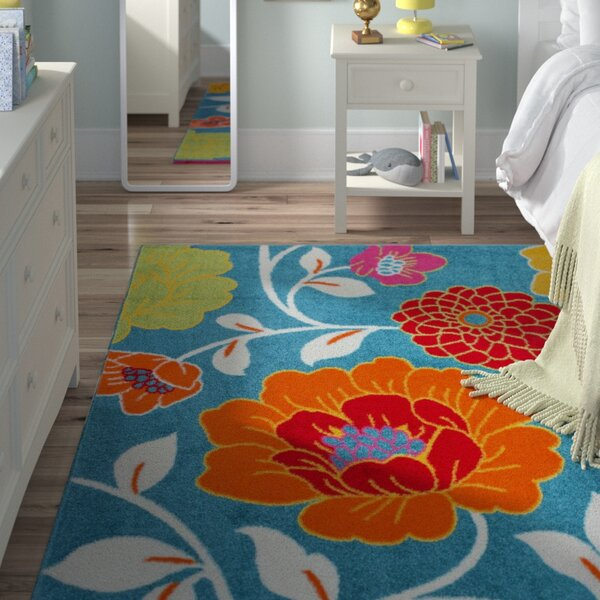 Helwig Daisy Blue Area Rug by Viv + Rae