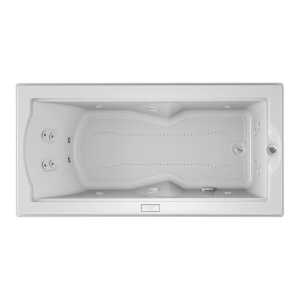 Fuzion Chroma Right-Hand 72 x 36 Drop-In Salon Bathtub by Jacuzzi®
