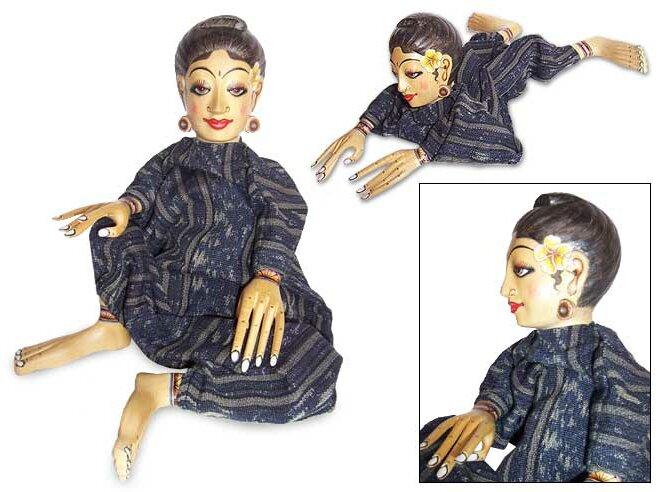 Bloomsbury Market Hearston Decorative Miss Bali Wood Display Doll Wayfair