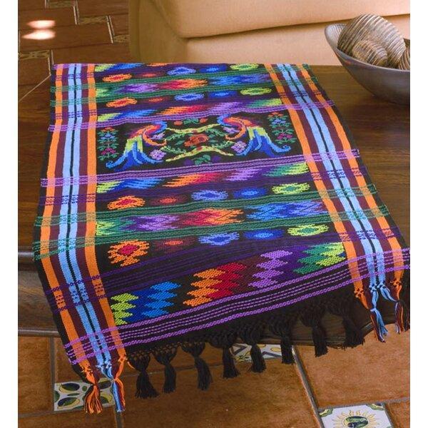 Ebony Quetzal Cotton Table Runner by Novica