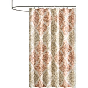 orange and brown shower curtain. Frederica Shower Curtain Orange Curtains You ll Love  Wayfair