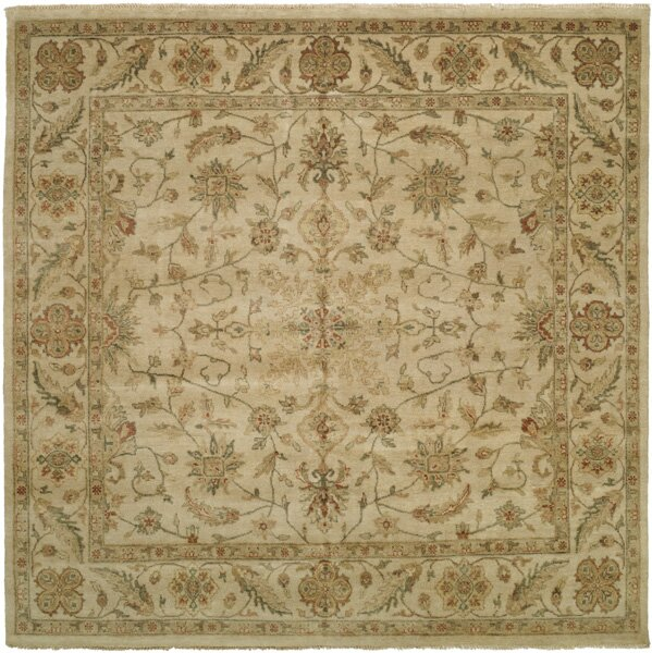 Dubai Hand-Knotted Beige Area Rug by Wildon Home ®