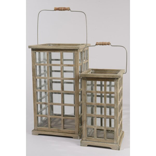 Tea Garden 2 Piece Wood Lantern Set by Northlight Seasonal
