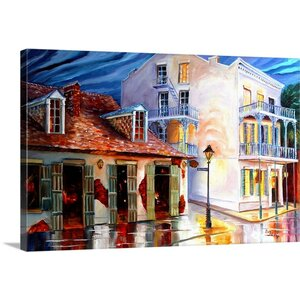 'Lafitte Bar on Bourbon Street' by Diane Millsap Painting Print on Canvas by Canvas On Demand