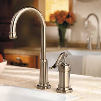 Pfister Ashfield Single Handle Kitchen Faucet with Side ...