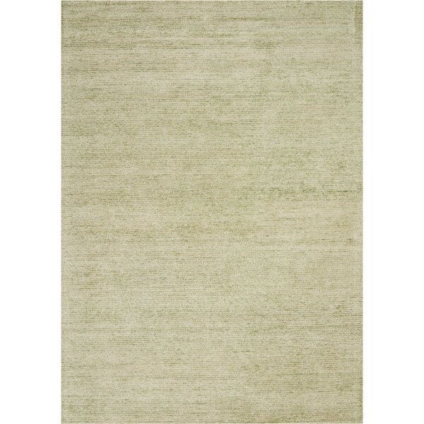 Romans Solid Hand-Tufted Citron Green Area Rug by Highland Dunes