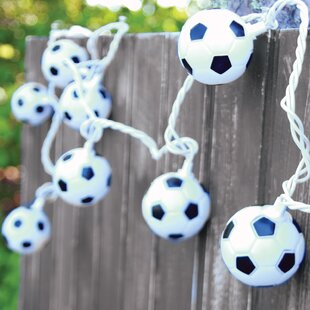 Compare 10-Light 90 ft. Soccer Ball String Lights By DEI