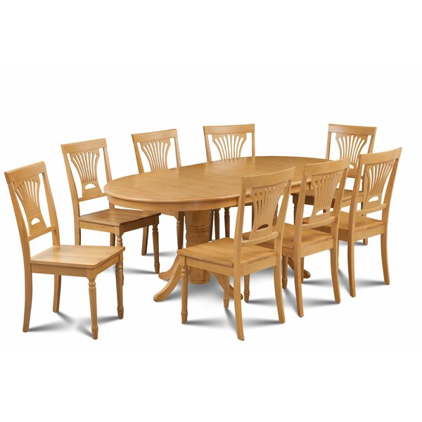 Kelston Mills 9 Piece Extendable Solid Wood Dining Set by Alcott Hill