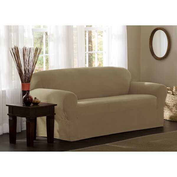 Box Cushion Sofa Slipcover By Charlton Home®