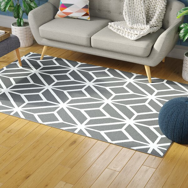 Pleione Grey Indoor/Outdoor Area Rug by Wrought Studio