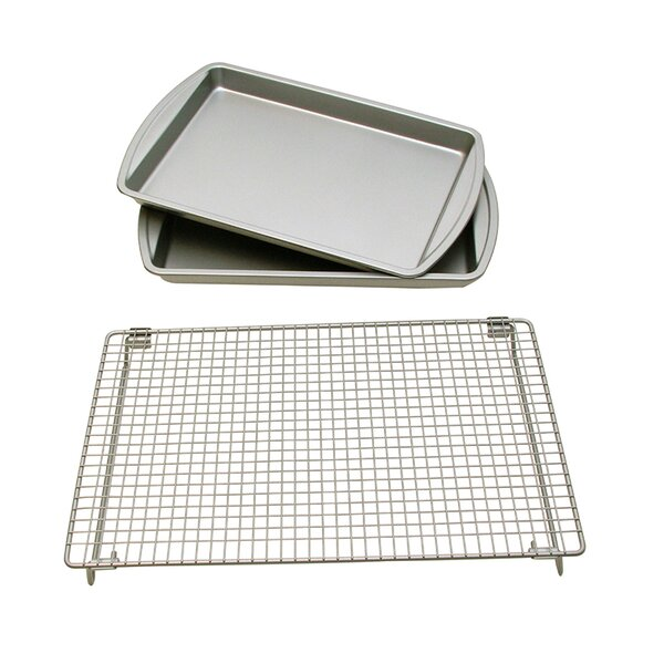 3 Piece Baking Sheet and Rack Set by Le Chef