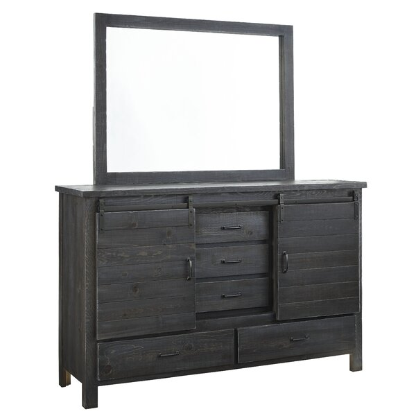 Jordyn 5 Drawer Combo Dresser with Mirror by Laurel Foundry Modern Farmhouse