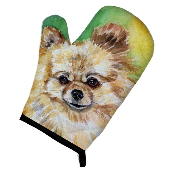 Pomeranian Sissy Oven Mitt by East Urban Home