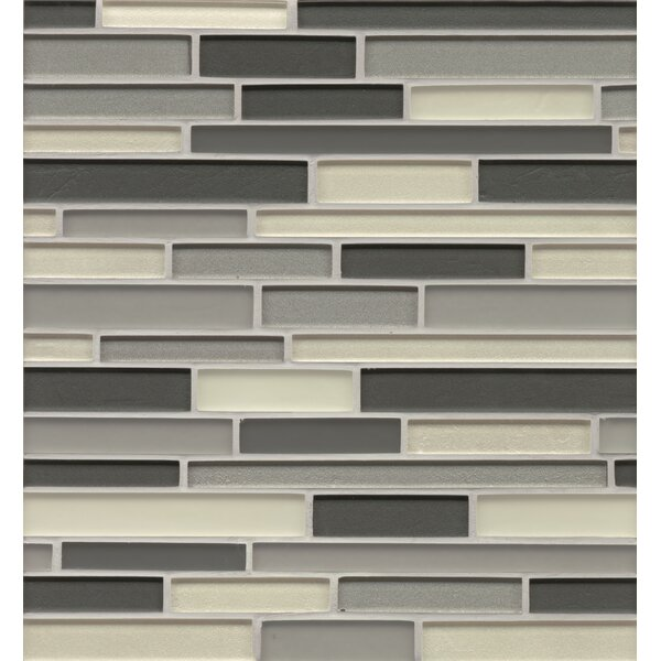 Remy Glass Mosaic Random Interlocking Glass Blends Tile in Hinsdale by Grayson Martin