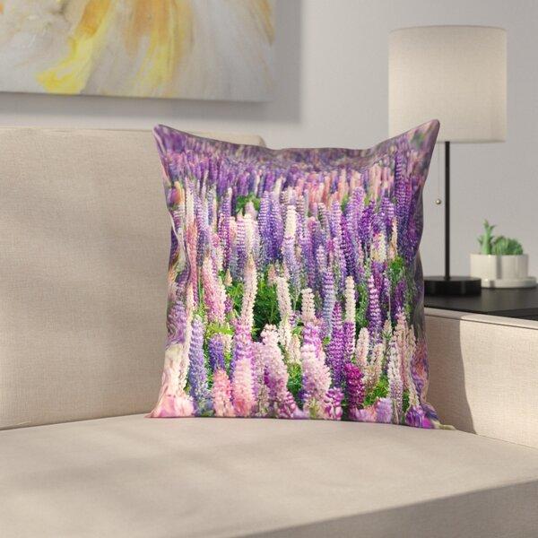 Joyeta Lavender Field Square Pillow Cover by Latitude Run