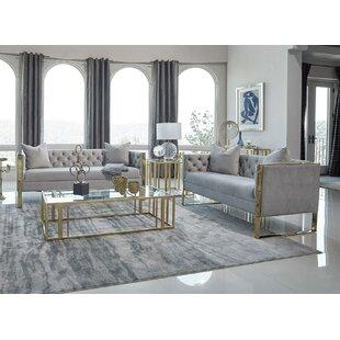 Salford 2 Piece Velvet Living Room Set by Everly Quinn